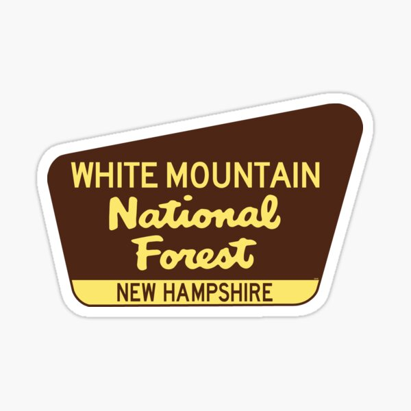 White Mountain National Forest New Hampshire Sign Sticker