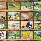 Stockdog ~ Working Australian Shepherd ~ Collage by Barbara Applegate