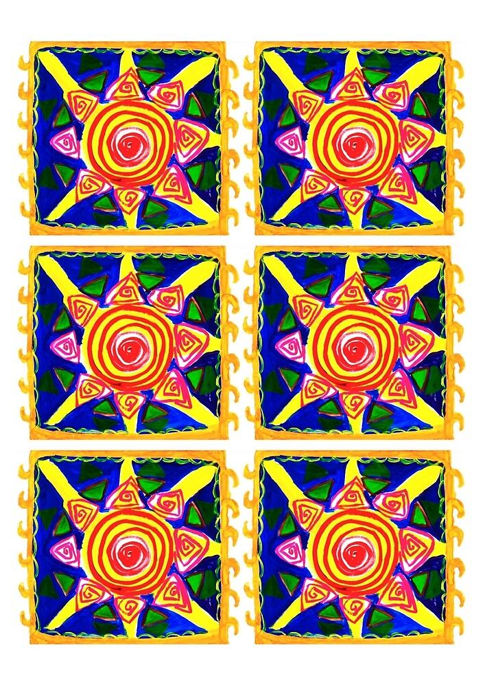 ethnic pattern sun by oyuornek