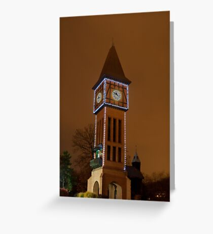 Clock Tower Main Strauss KY Greeting Card