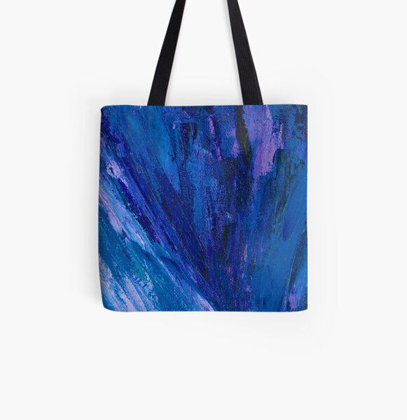 Intuitive Abstract Water Landscape by Courtney Hatcher All Over Print Tote Bag