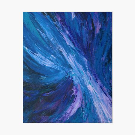 Intuitive Abstract Water Landscape by Courtney Hatcher Art Board Print