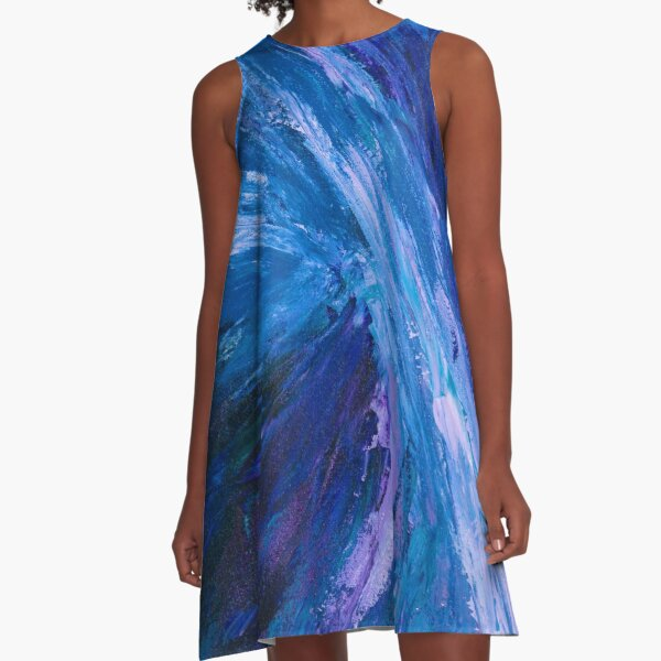 Intuitive Abstract Water Landscape by Courtney Hatcher A-Line Dress