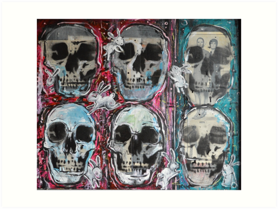 Bunnies and Skulls by David Irvine