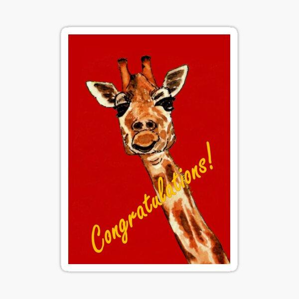 Giraffe - Congratulations Card Sticker