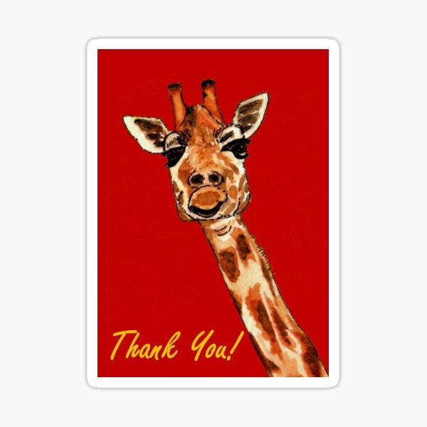 Giraffe - Thank You Card Sticker