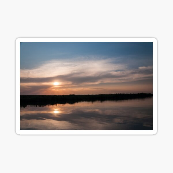 Two sunsets Sticker