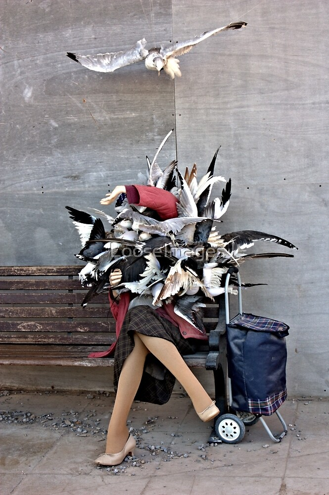 Dismaland - Woman Being Attacked By Birds - 2 by LooseImages