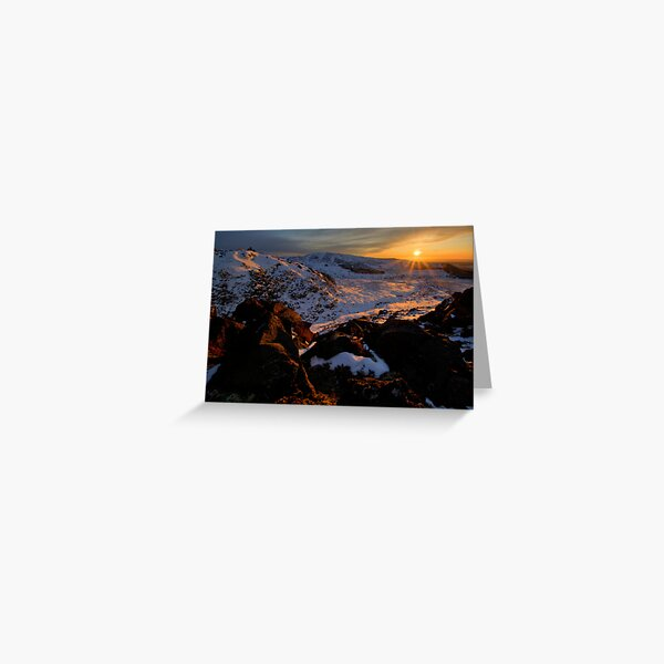 End of the Day, Central Plateau Greeting Card