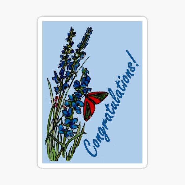 Feeling Blue - Congratulations Card Sticker