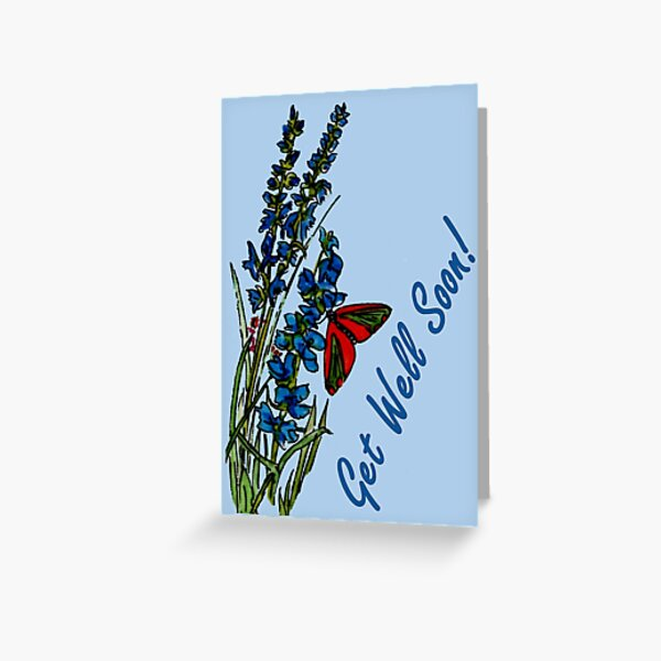 Feeling Blue - Get Well Soon Card Greeting Card