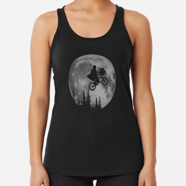 Across The Moon With The Child Racerback Tank Top
