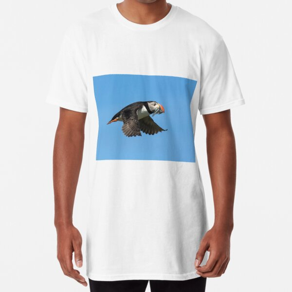 Puffin with Fish Long T-Shirt