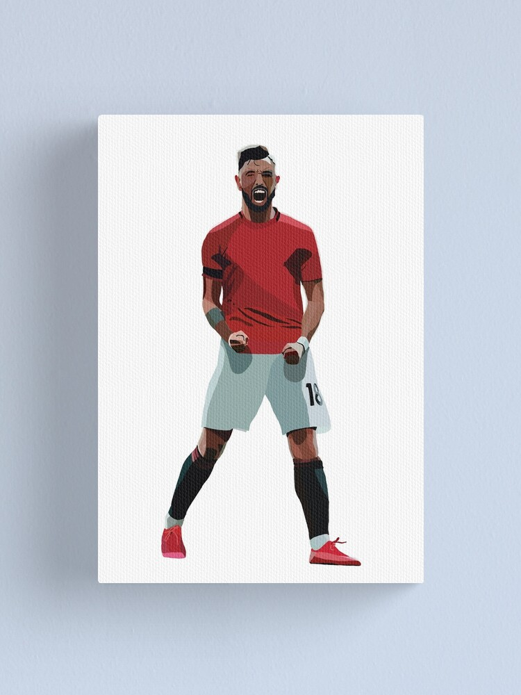BRUNO FERNANDES MANCHESTER UNITED FOOTBALL CANVAS WALL ART FRAMED PICTURE PRINT