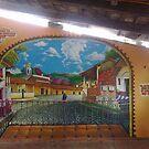 """MURAL """"MAGIC TOWN"""" by Ehivar Flores Herrera"""