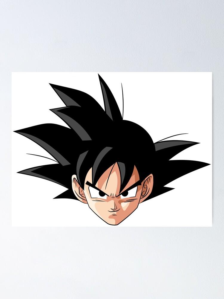Poster Visage Du Personnage De Goku Dragon Ball Z Par Moosman Redbubble
