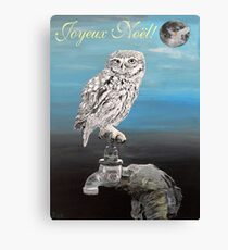 French Christmas Little Owl Canvas Print