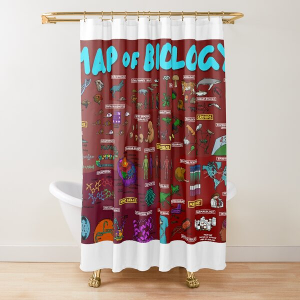 Map of Biology Shower Curtain