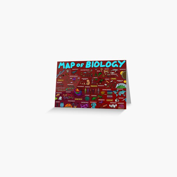 Map of Biology Greeting Card