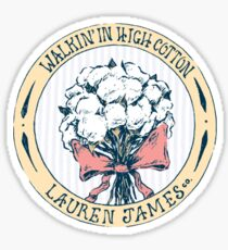 Walking in High Cotton Sticker