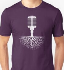 Musical Roots (Microphone) Slim Fit T-Shirt