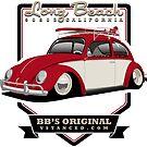 Long Beach - Red - Sticker by BBsOriginal