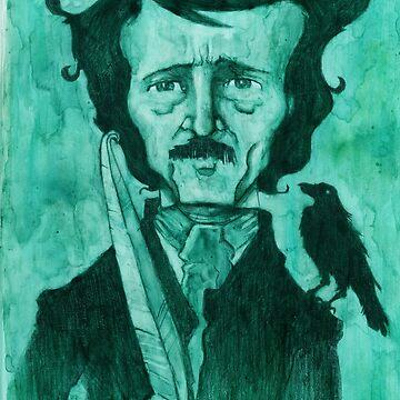 Edgar Allan Poe by gwlankard