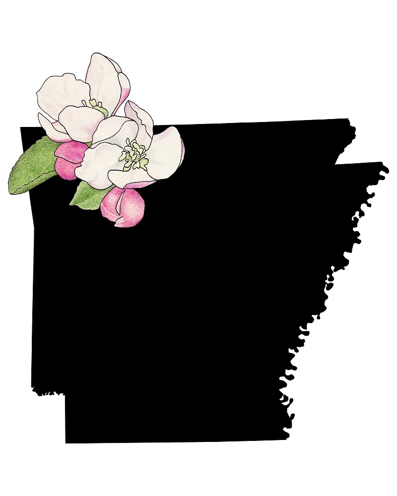 Arkansas Silhouette and Flowers by UrsulaRodgers