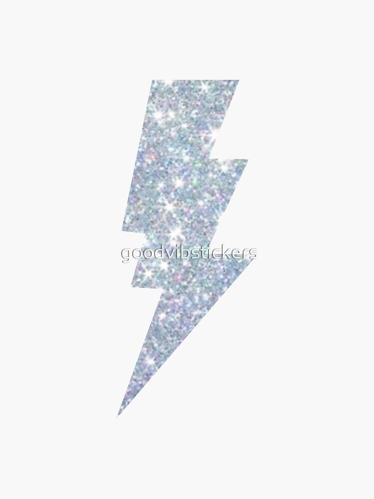 Sparkle lightning bolt design by goodvibstickers