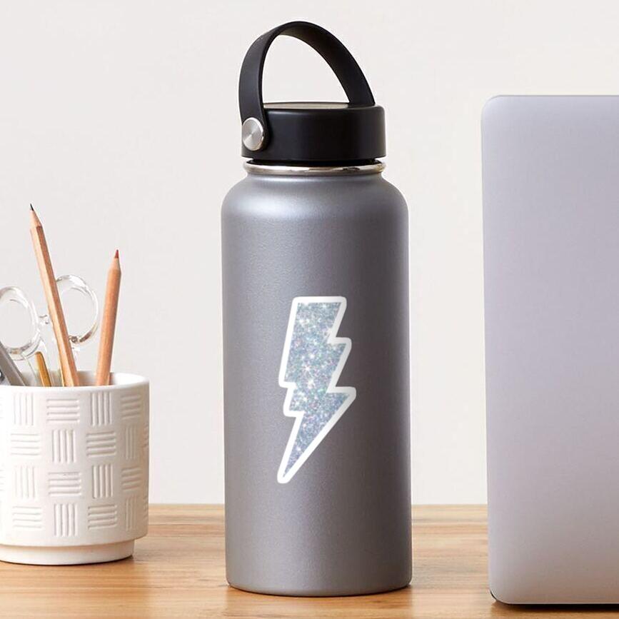 Sparkle lightning bolt design Sticker