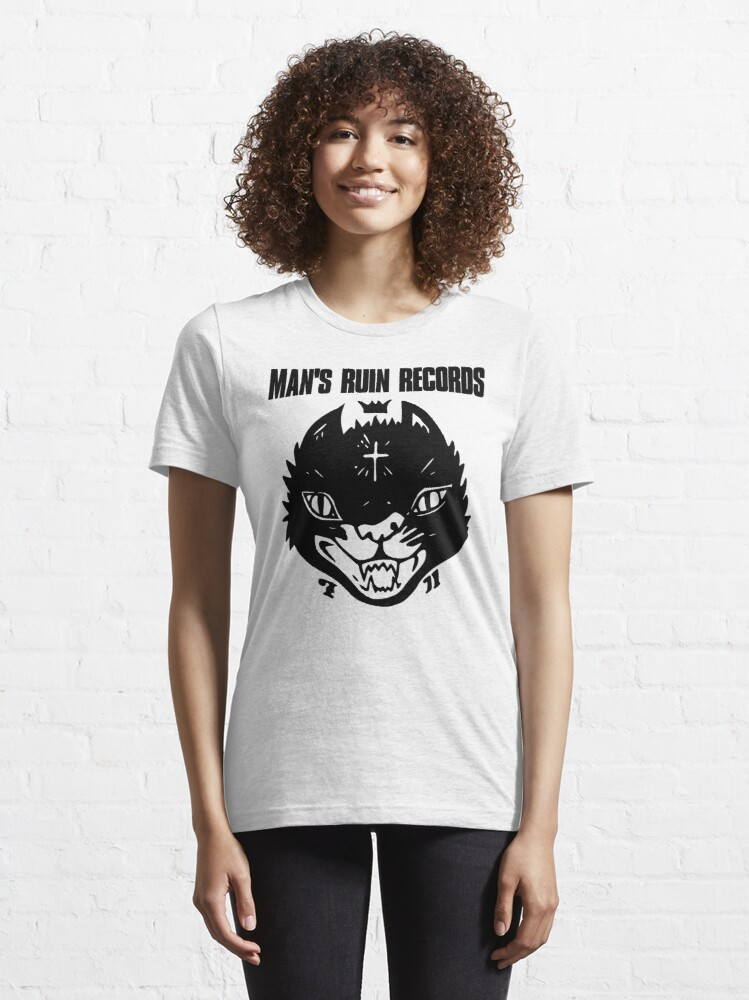 Alternate view of Man's Ruin Records Cat Essential T-Shirt