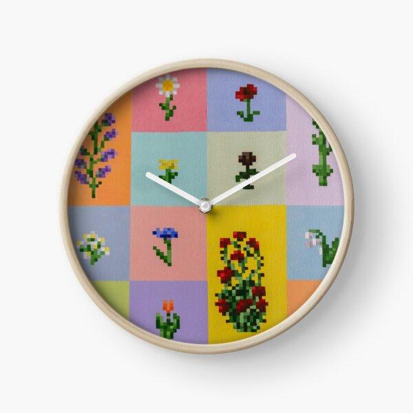 Minecraft Flowers  Clock