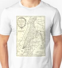 Camiseta ajustada Vintage Map of New York City (1893)