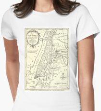 Camiseta entallada para mujer Vintage Map of New York City (1893)