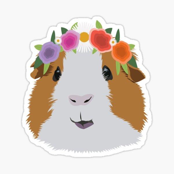 Flower Crown Guinea Pig  Sticker
