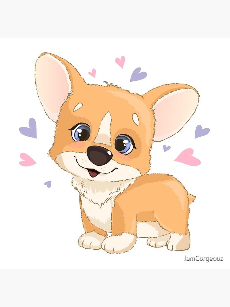 Cute Cartoon Corgi Puppy Hearts Funny Cartoon Dog Gift Art Board Print By Iamcorgeous Redbubble Том кортнэй, джон калшо, кулвиндер гир и др. redbubble