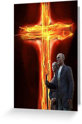 Burning Cross by GothCardz