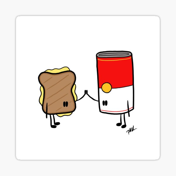 Grilled Cheese + Tomato Soup Sticker