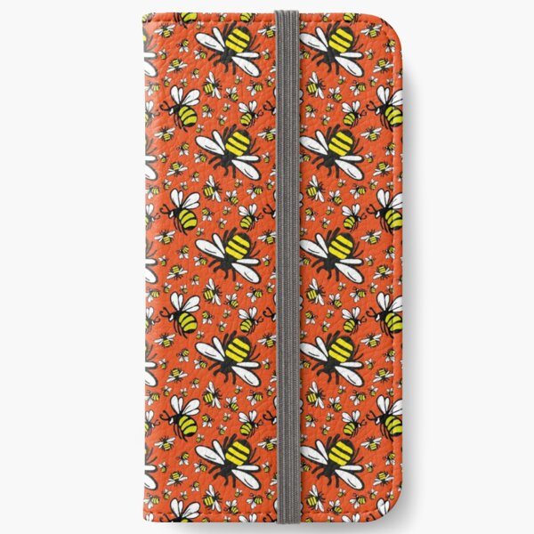 Buzzy Bee and his little ones in ORANGE iPhone Wallet