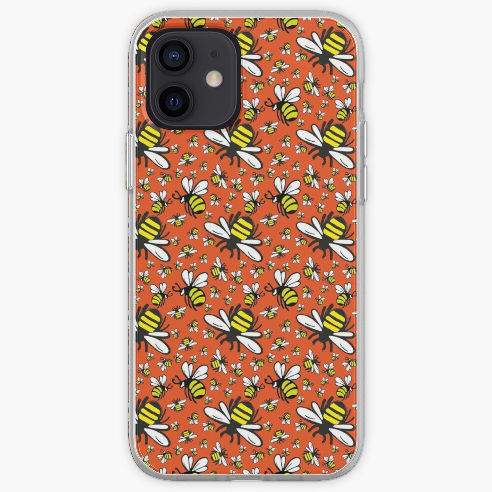 Buzzy Bee and his little ones in ORANGE iPhone Case & Cover