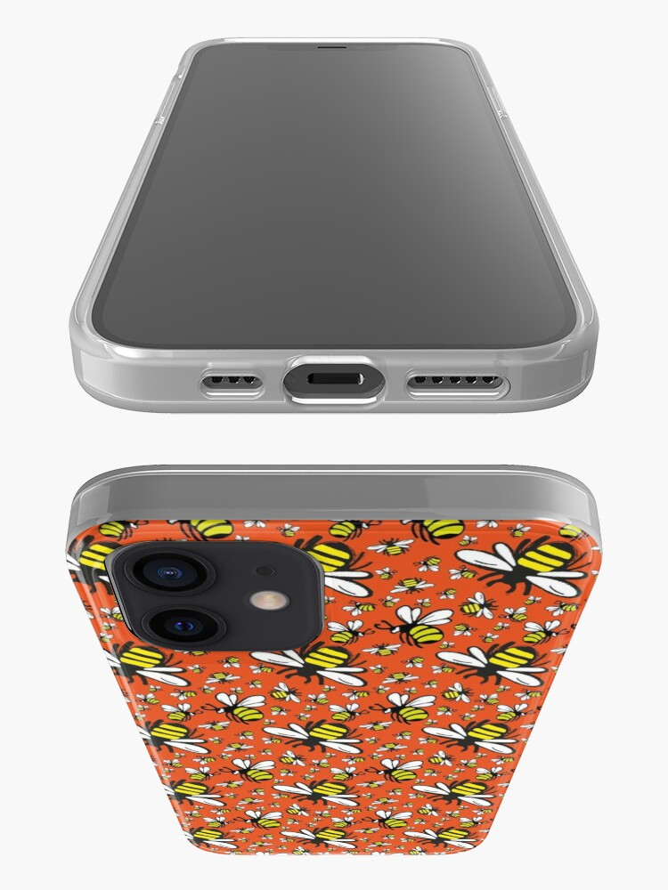 Alternate view of Buzzy Bee and his little ones in ORANGE iPhone Case & Cover