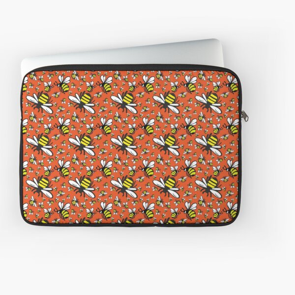 Buzzy Bee and his little ones in ORANGE Laptop Sleeve