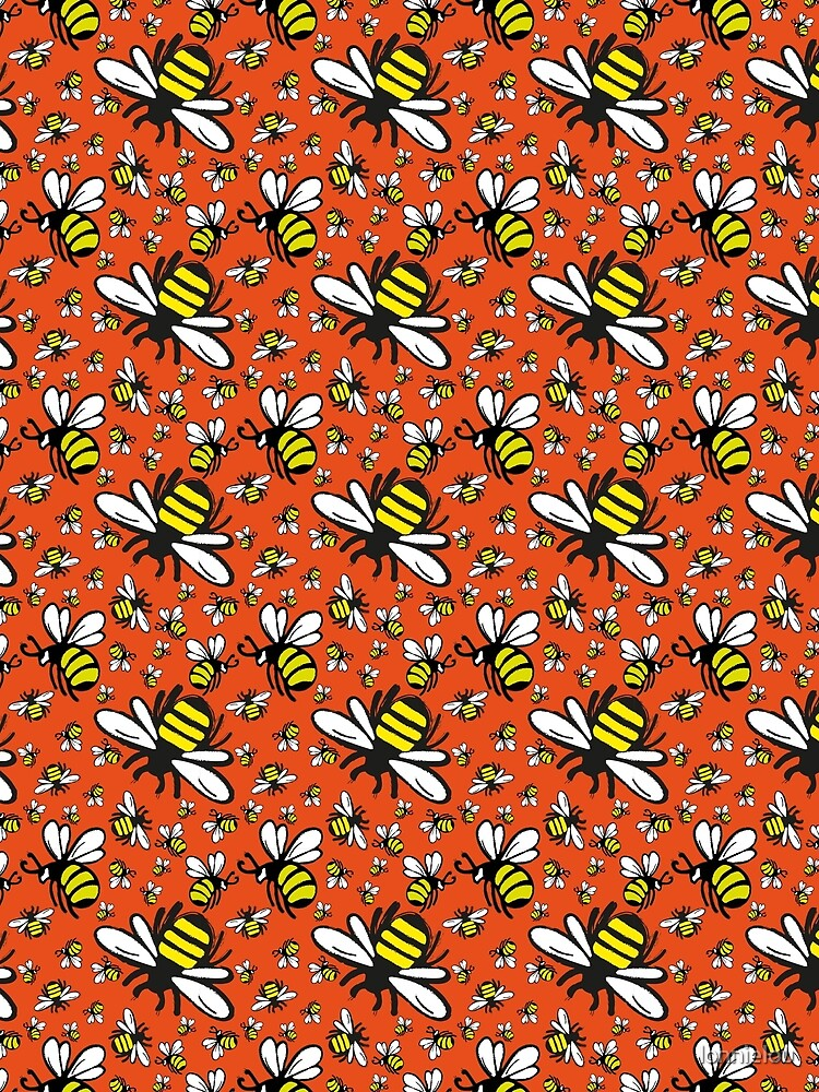Buzzy Bee and his little ones in ORANGE by lonnielou