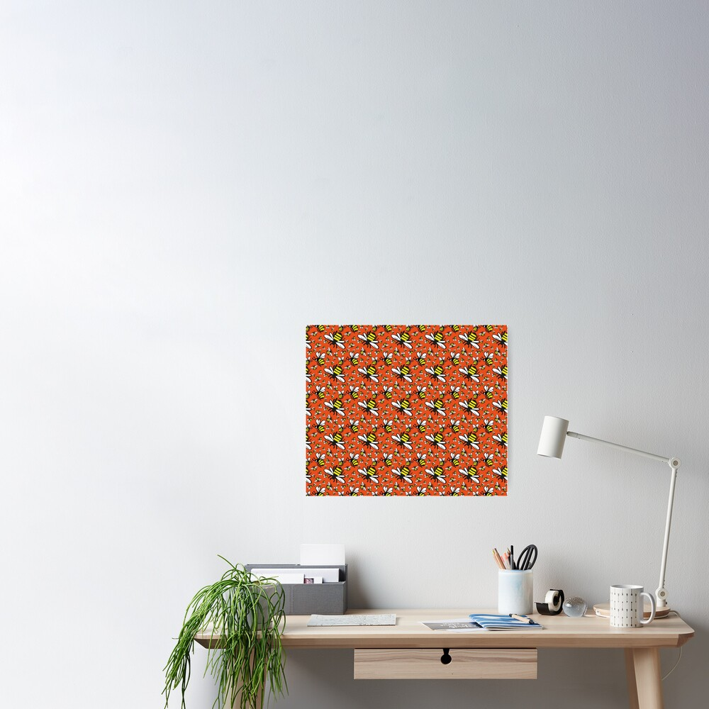 Buzzy Bee and his little ones in ORANGE Poster