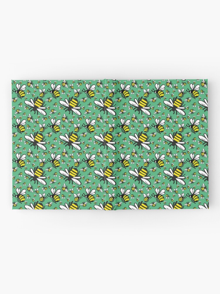 Alternate view of Buzzy Bee and his little ones in VIBRANT MINT GREEN Hardcover Journal