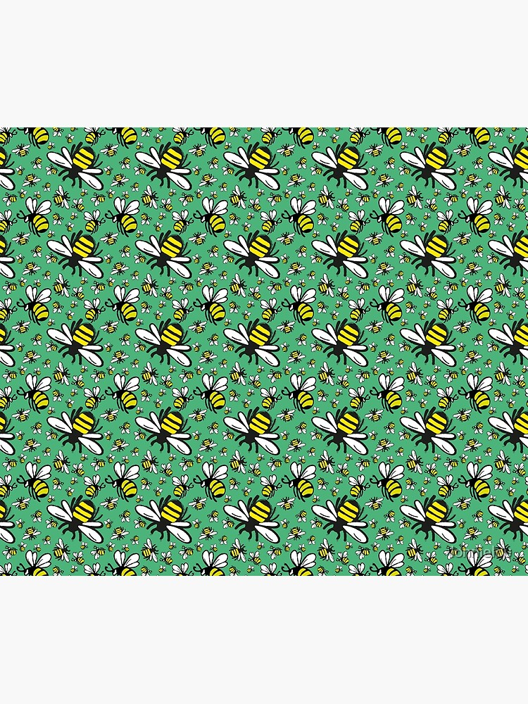 Buzzy Bee and his little ones in VIBRANT MINT GREEN by lonnielou