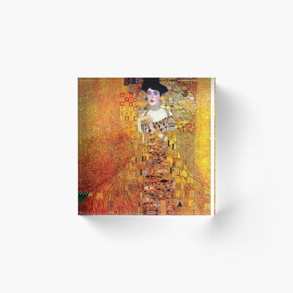 LADY IN GOLD : Gustav Klimt 1912 High Definition Painting Print Acrylic Block