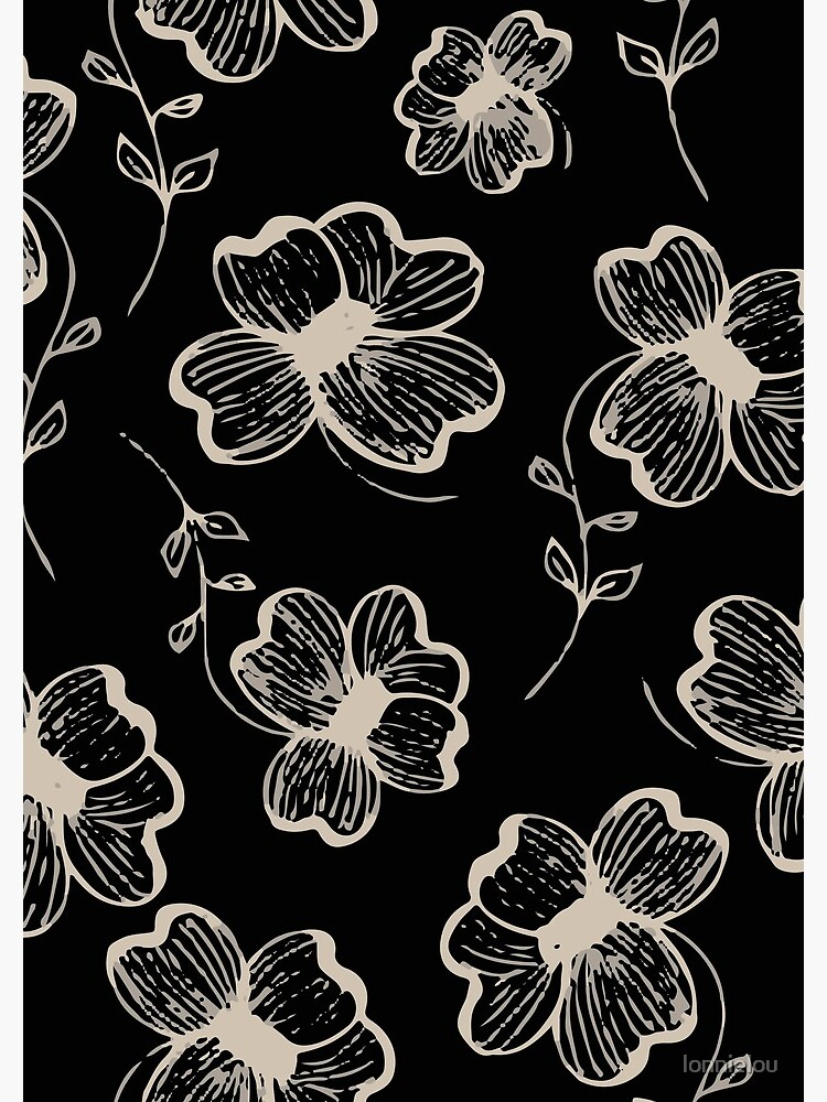 Pretty Pansy in Cream & Black by lonnielou