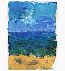 Beach in Acrylic Poster