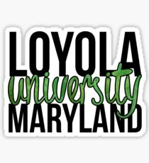 Loyola University Maryland Block Sticker